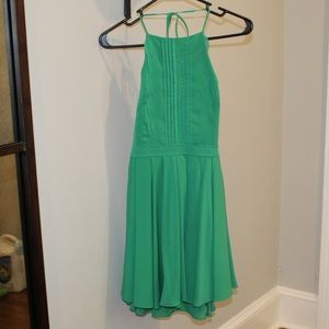 Kelly green Halter Dress